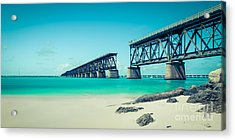 Bahia Hondas Railroad Bridge  Acrylic Print by Hannes Cmarits