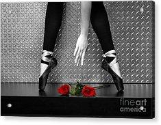 Bailarina En Rosas Acrylic Print