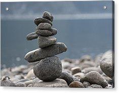Balance Acrylic Print by Cathie Douglas