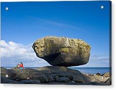 Balance Rock, British Columbia Acrylic Print by David Nunuk