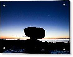 Balancing Rock Sunrise Acrylic Print by Brandon Broderick