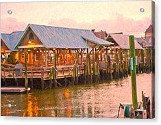 Bald Head Island Marina Acrylic Print
