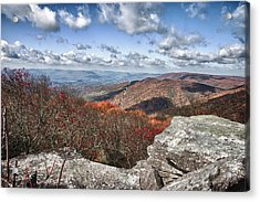 Bald Knob Overlook Near Mountain Lake Acrylic Print