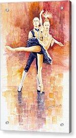 Balet 01 Acrylic Print by Yuriy  Shevchuk
