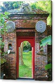 Bali Gate Acrylic Print by Michelle Matisse