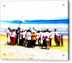Balinese Beach In Mourning Acrylic Print by Funkpix Photo Hunter