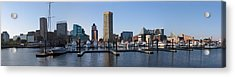 Acrylic Print featuring the photograph Balitmore Inner Harbor Panorama by Darleen Stry