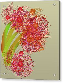 Acrylic Print featuring the digital art Ball Of Fire by Asok Mukhopadhyay