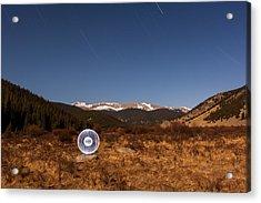 Ball Of Light Geneva Creek Valley Acrylic Print by Richard Steinberger