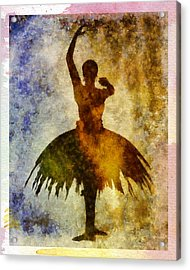 Ballerina 1 With Border Acrylic Print