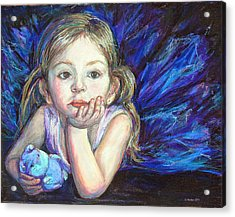 Acrylic Print featuring the painting Ballerina Dreams by Li Newton