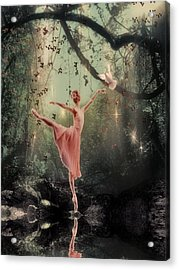 Ballerina Acrylic Print by Lee-Anne Rafferty-Evans