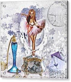 Ballerina Acrylic Print by Mo T