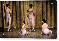 Ballerinas Acrylic Print by Ercole Gaudioso