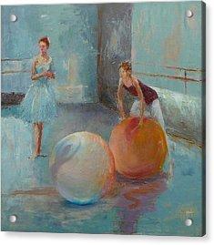 Ballet Class With Balls Acrylic Print by Irena  Jablonski