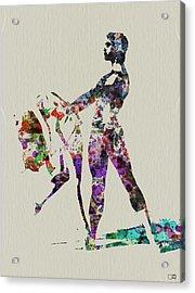 Ballet Dance Acrylic Print by Naxart Studio