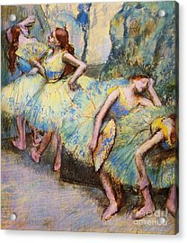 Ballet Dancers In The Wings Acrylic Print by Pg Reproductions