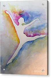 Ballet Leap 1 Acrylic Print by Carolyn Weir