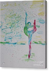 Ballet Pointe 2 Acrylic Print by Carolyn Weir