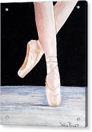 Ballet Shoes Acrylic Print by Julie Kraft