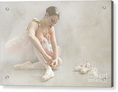 Ballet Slippers D003986-b Acrylic Print by Daniel Dempster