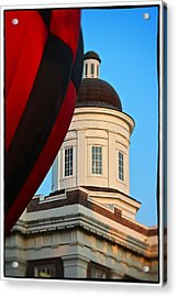 Acrylic Print featuring the photograph Balloon And Dome Of The Canton Courthouse by Jim Albritton