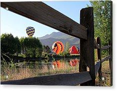 Balloon Launch-ridgway 2012 Acrylic Print by Marta Alfred