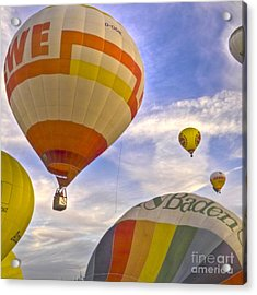 Balloon Ride Acrylic Print by Heiko Koehrer-Wagner