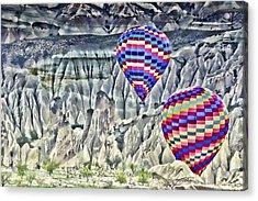 Balloon Rides In Cappadocia Acrylic Print by Beverly Hanson