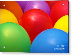 Balloons Background Acrylic Print by Carlos Caetano