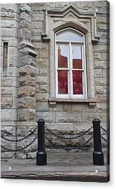 Balloons In The Window Acrylic Print by Anna Villarreal Garbis