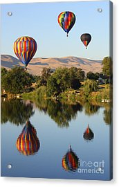 Balloons Over Horse Heaven Acrylic Print by Carol Groenen