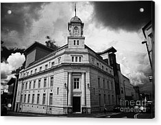 Ballymena Town Hall Now Part Of The Braid Museum And Arts Complex Ballymena  Acrylic Print by Joe Fox