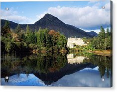 Ballynahinch Castle Hotel, Twelve Bens Acrylic Print by The Irish Image Collection