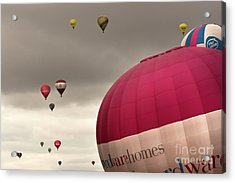 Baloons Acrylic Print by Angel  Tarantella