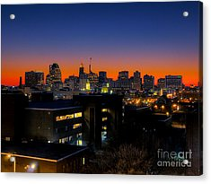 Acrylic Print featuring the photograph Baltimore At Sunset by Mark Dodd