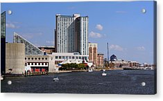 Acrylic Print featuring the photograph Baltimore Harbor by Karen Harrison