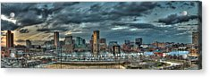 Acrylic Print featuring the photograph Baltimore Inner Harbor Pano by Mark Dodd