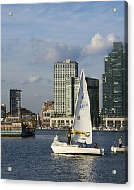 Baltimore Sail Boat - Maryland Acrylic Print by Brendan Reals