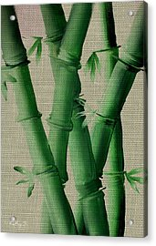 Acrylic Print featuring the painting Bamboo Cloth by Kathy Sheeran