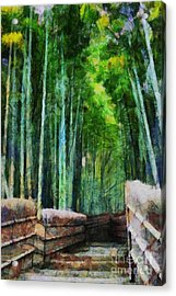 Bamboo Forest Acrylic Print by Cathleen Cawood