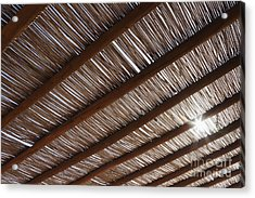 Bamboo Roof Acrylic Print by Jeremy Woodhouse