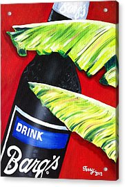 Banana Leaf Series - Barq's Rootbeer Acrylic Print by Terry J Marks Sr