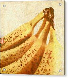 Bananas. #bananas #banana #yellow Acrylic Print