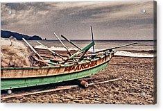 Banca Boat 2 Acrylic Print by Skip Nall