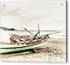 Banca Boat Acrylic Print by Skip Nall