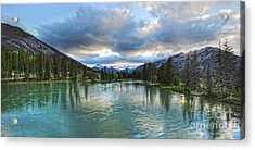 Banff And The Bow River - 01 Acrylic Print by Gregory Dyer