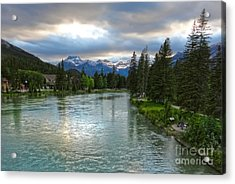 Banff And The Bow River - 02 Acrylic Print by Gregory Dyer