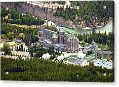 Banff Hotel 1575 Acrylic Print by Larry Roberson