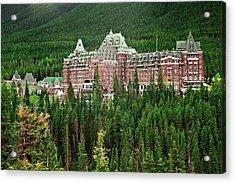 Banff Hotel 1607 Acrylic Print by Larry Roberson